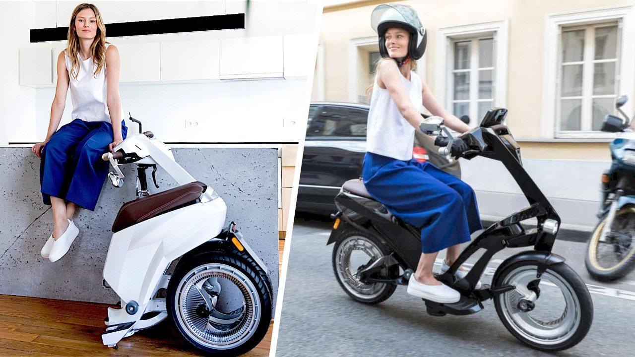 Ujet : scooter électrique pliant connecté