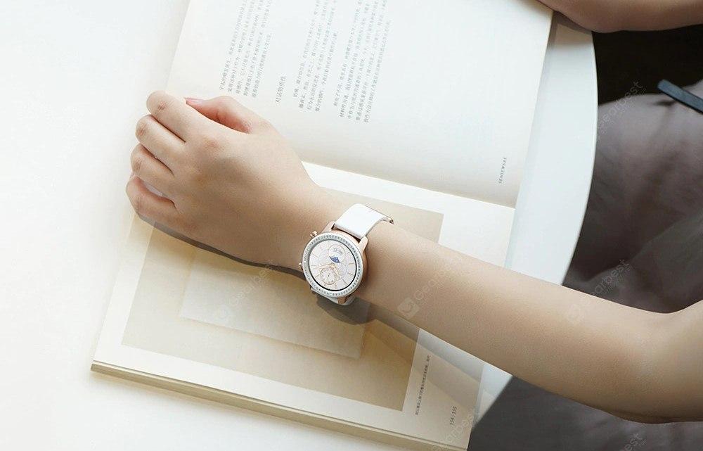 AMAZFIT GTR 42mn Zirconia Swarovski : montre connectée bijou pour femme