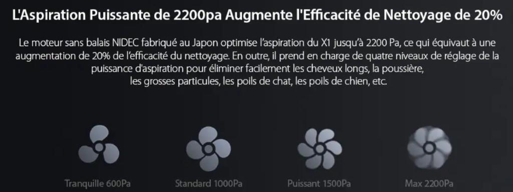 Lenovo X1 LDS aspiration puissante