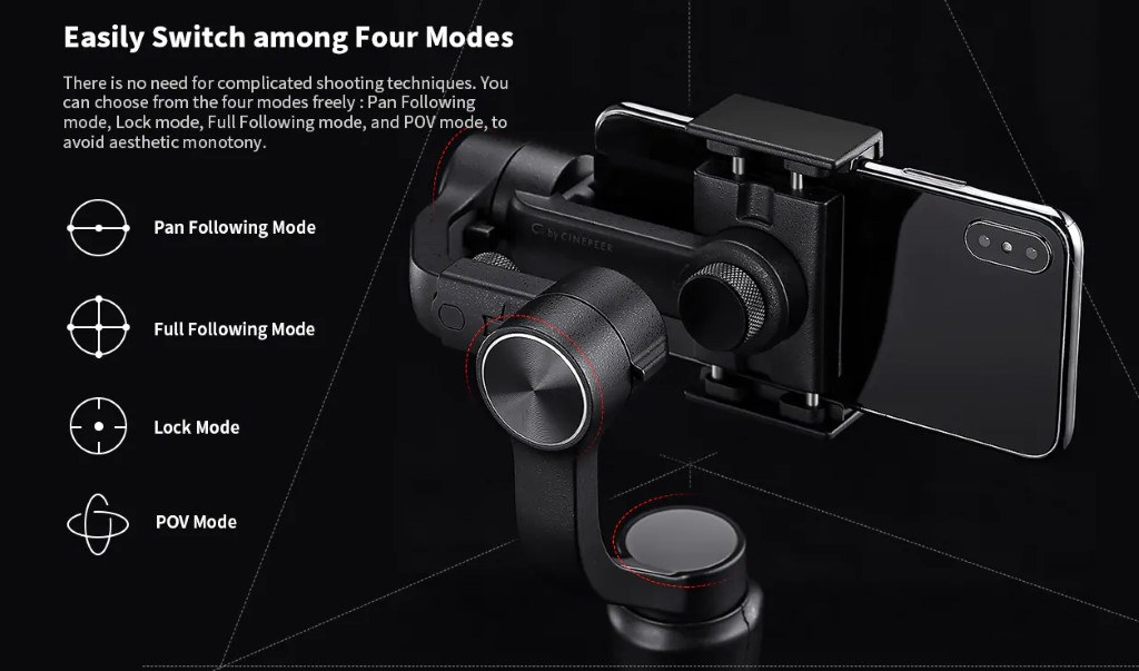 Zhiyun Cinepeer C11 - modes