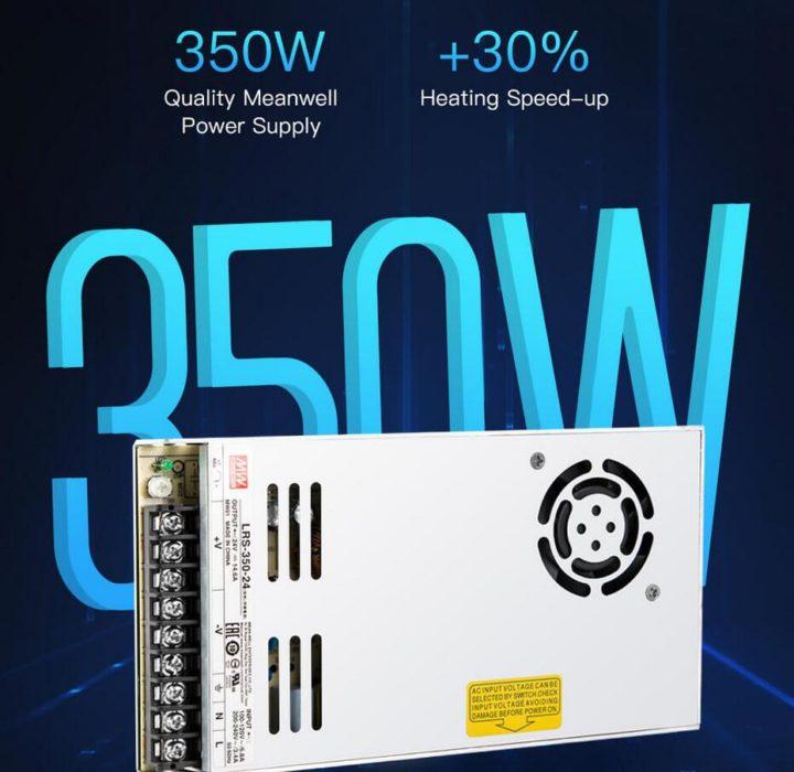 imprimante 3d creality cr-10 v2 : puissance