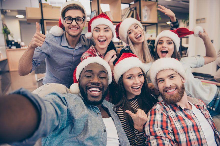 secret santa selfie entreprise