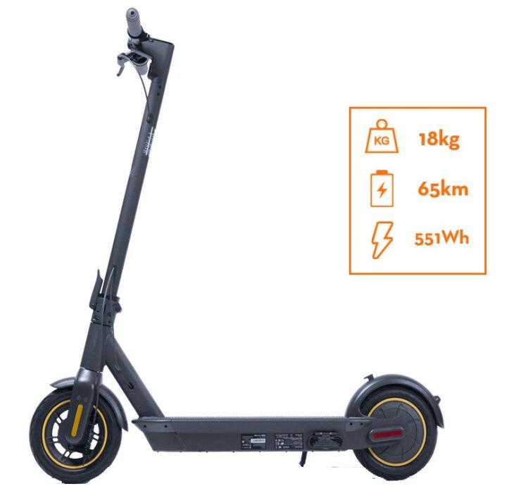 segway ninebot kickscooter max g30 - autonomie