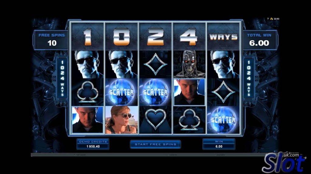slots machines terminator