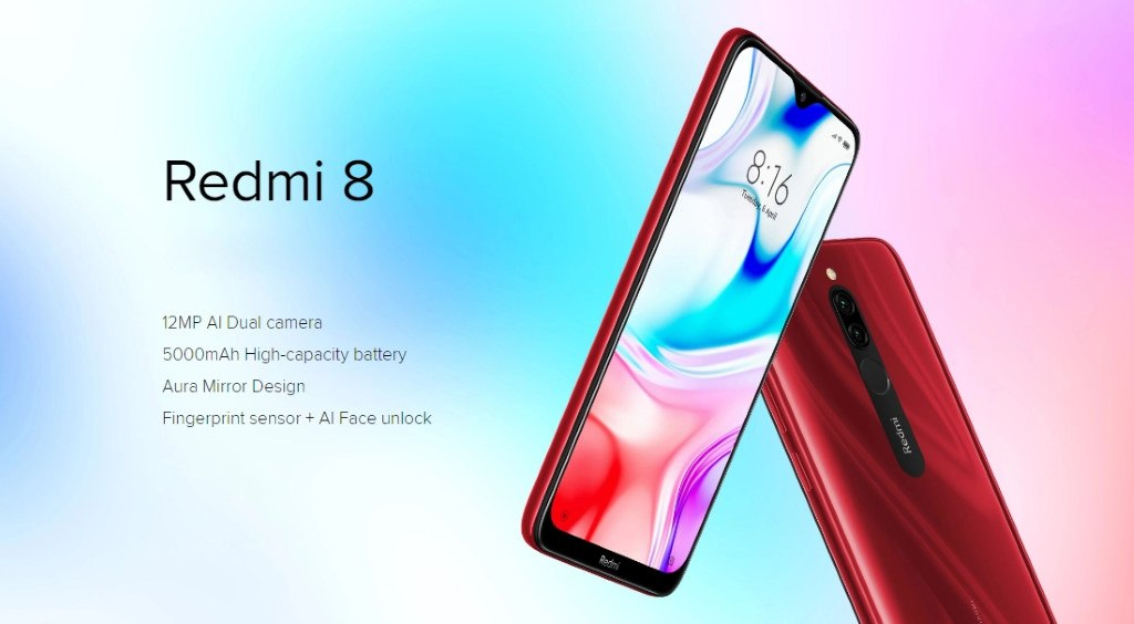 xiaomi redmi 8 - design