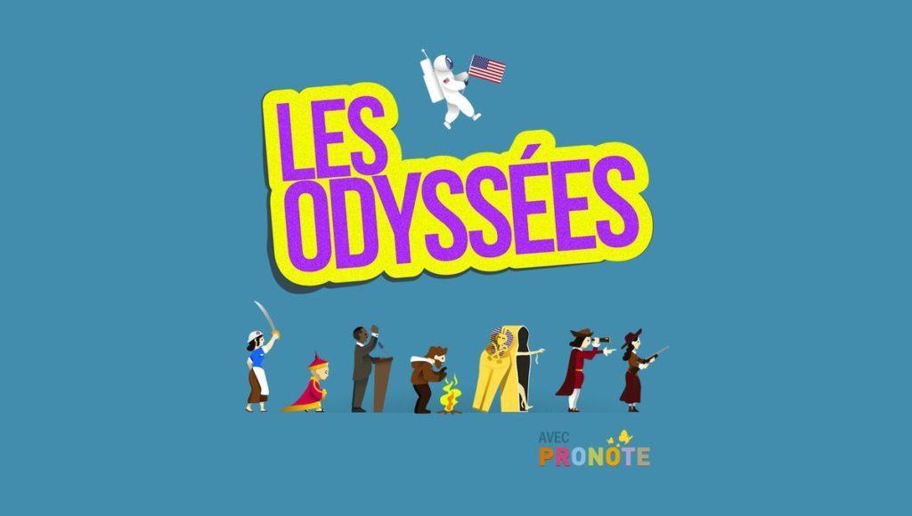 Illustration logo du podcast les odyssées