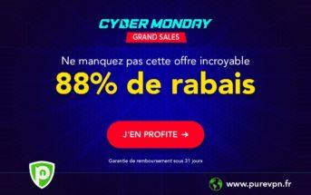 🔥 Meilleure promo VPN du Cyber Monday : 88% de réduction chez PureVPN!