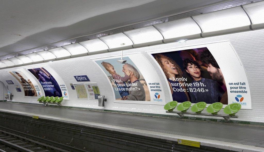 Affichage Pub Bouygues Telecom 2020 : On est fait pour être ensemble - 01