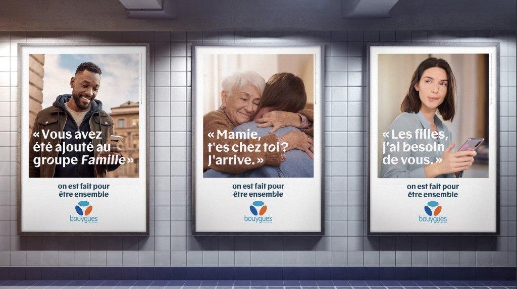 Affichage Pub Bouygues Telecom 2020 : On est fait pour être ensemble - 02