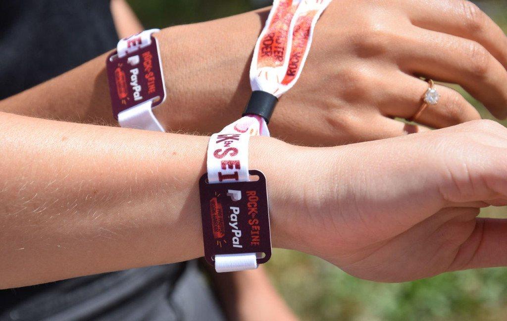 Le bracelet cashless rfid du festival Rock en Seine