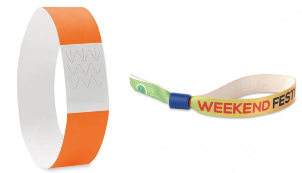 bracelet personnalisé en papier ou tissu à usage unique