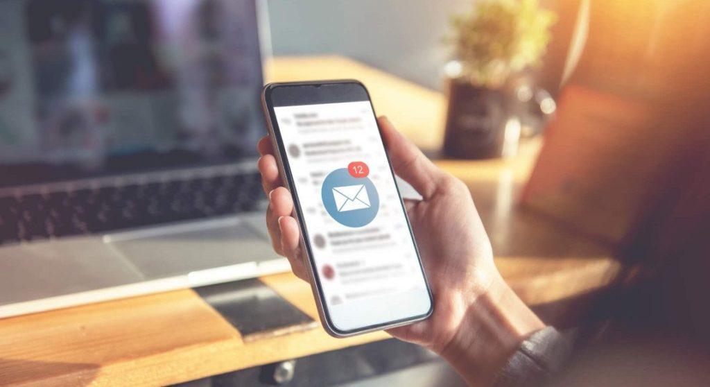 notification sms sur un smartphone