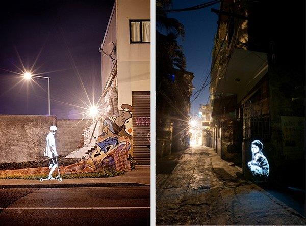 Enlightened Souls : le 1er projet solo de light painting de Fabrice Wittner (2011)