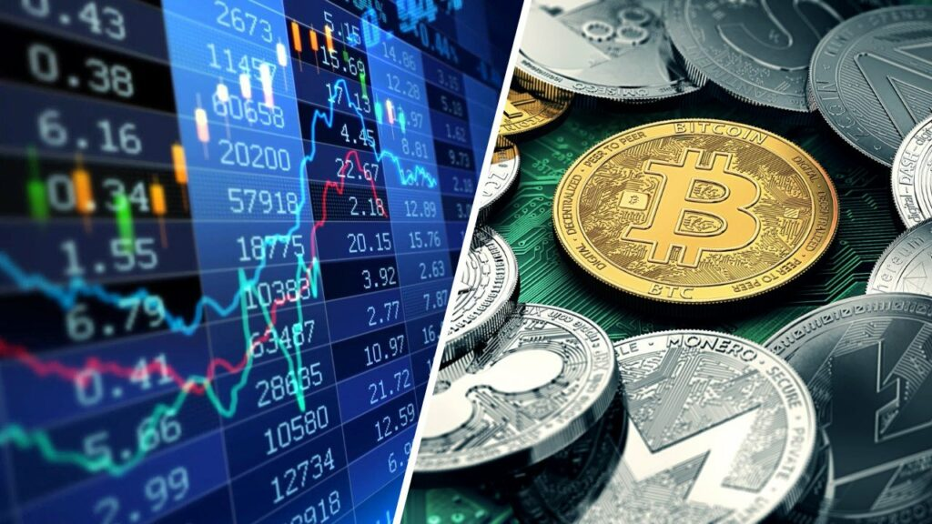 bourse vs cryptomonnaie