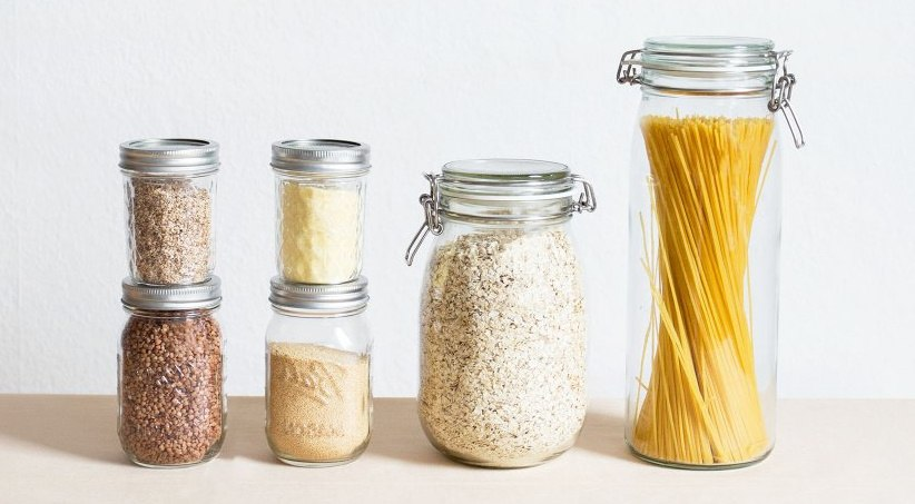 bocaux en verre réutilisables pour produits en vrac