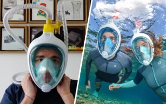 Covid-19 : un masque de snorkeling Decathlon transformé en respirateur