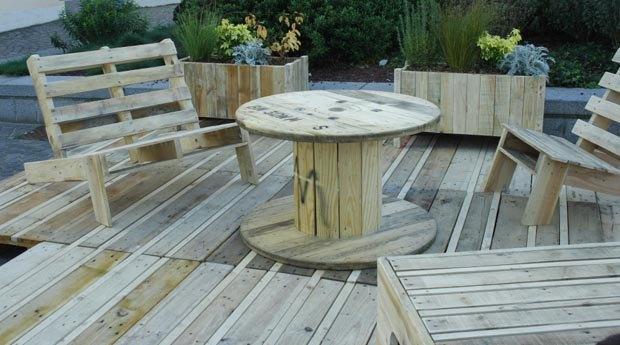 meubles de jardin récupération palettes en bois