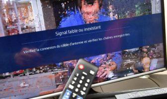 télévision en panne : image qui saute ou pixellisée