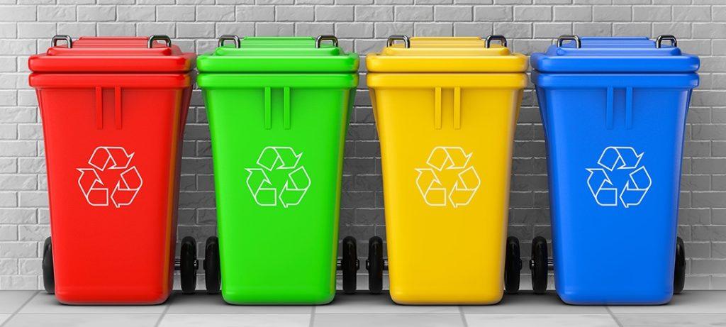 tri sélectif : couleur des poubelles de recyclage