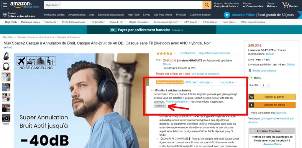Mu6 Space 2 : Code promo Amazon