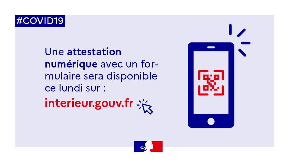 attestation de déplacement smartphone qr code