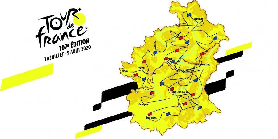 tour de France 2020 dans les Alpes du Sud - poisson d'avril D!CI