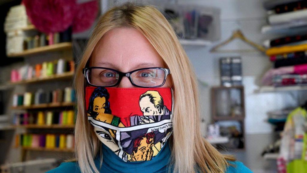 Masque en tissu comics