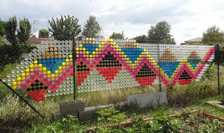 décoration de grillage formes géometriques