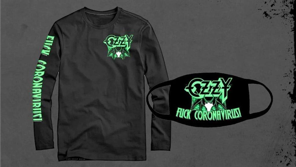 "Ozzy Osbourne et son masque ""Fuck Coronavirus!"""