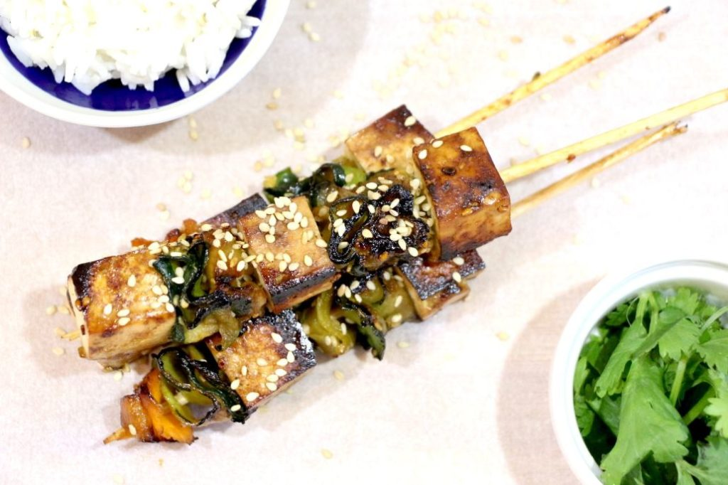 Recette de brochettes veggie au bon goût d'Asie