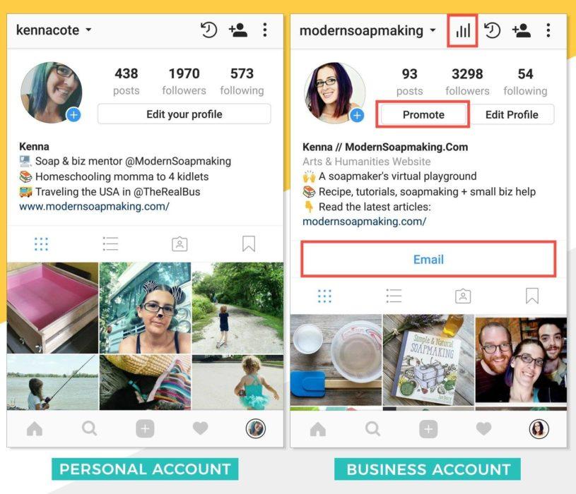 compte d'entreprise sur instagram - 01