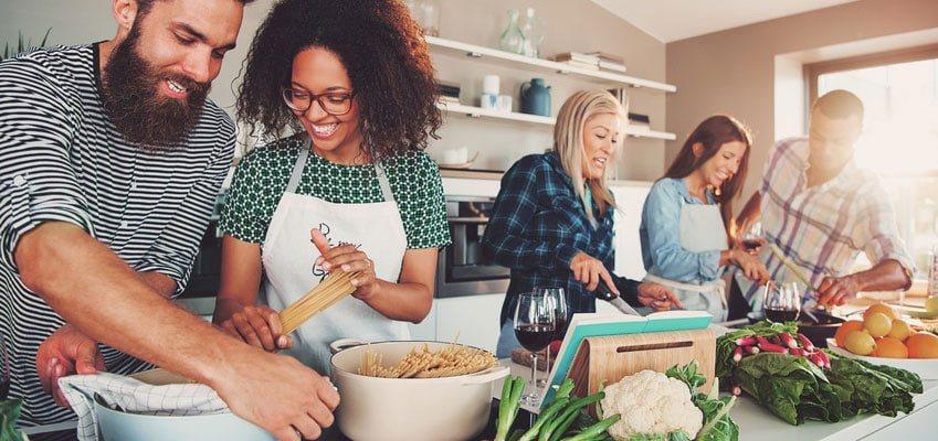 cours de cuisine en groupe
