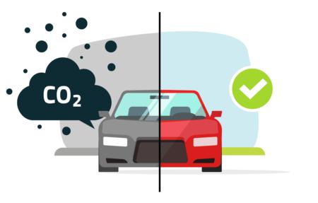voiture verte contre voiture polluante
