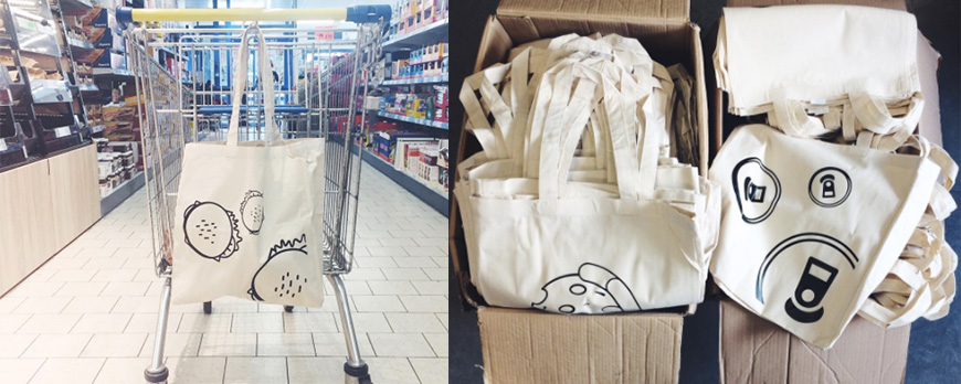 Sac en tissu pour remplacer les sacs en plastique