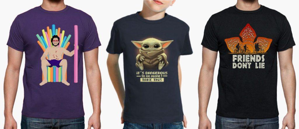 t-shirt film série