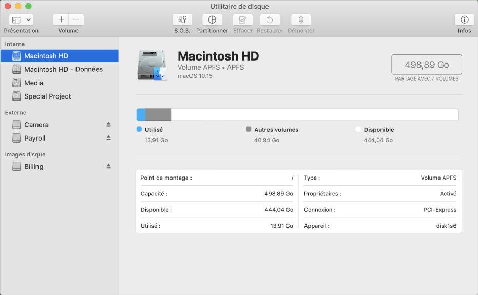 utilitaire de disque pour mac
