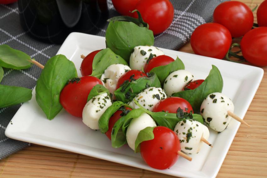 Brochettes tomates et mozzarella