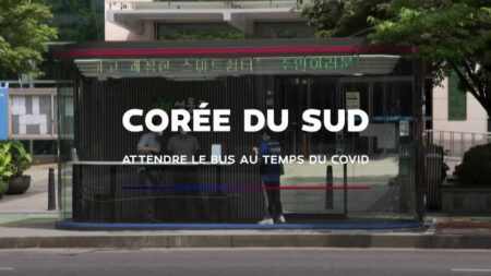Abribus anti-Coronavirus en Corée du Sud