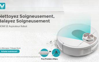 Black Friday VIOMI SE : l'aspirateur robot en promo à 279€ [entrepôt EU]