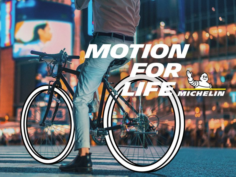 "pub michelin ""motion for life"" : print 02 vélo"