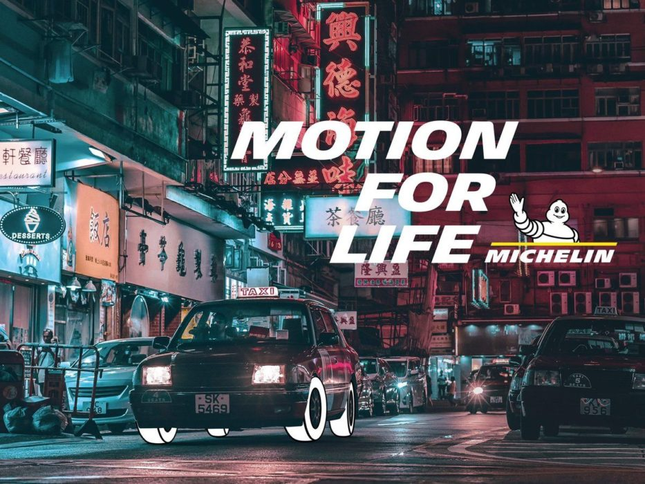 "pub michelin ""motion for life"" : print 03 voiture"