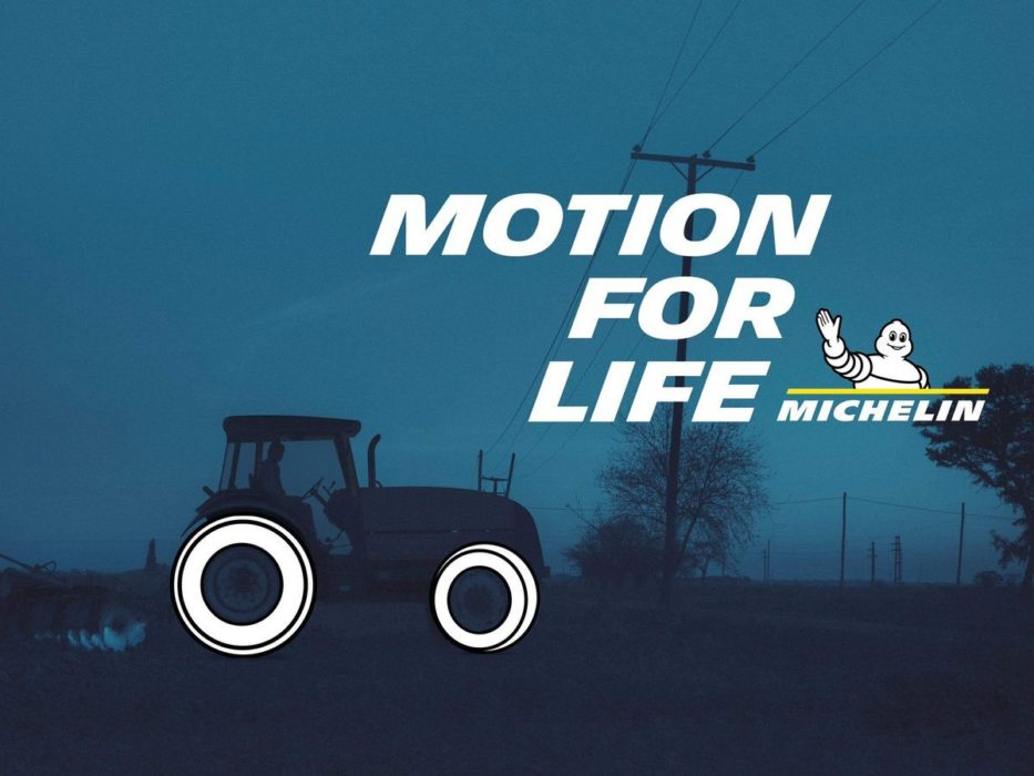 "pub michelin ""motion for life"" : print 04 tracteur"