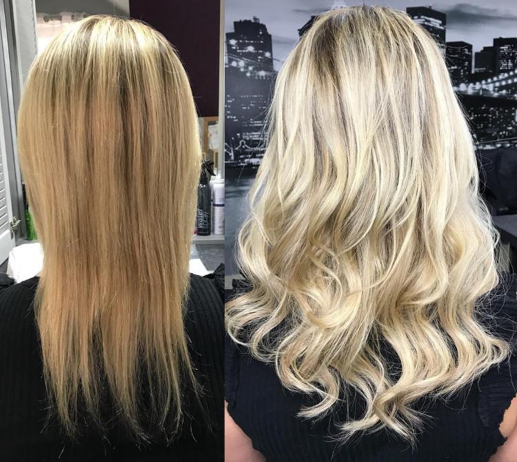 extensions de cheveux avant après