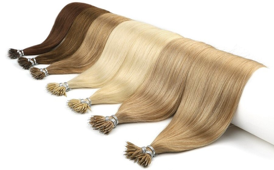 Exemple d'extensions de cheveux avant la pose