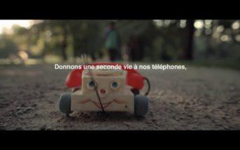 Pub Orange sur la (seconde) vie de nos téléphones