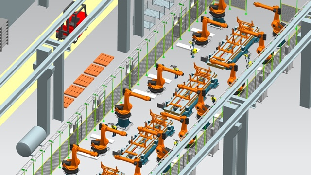 usine de production robotisée