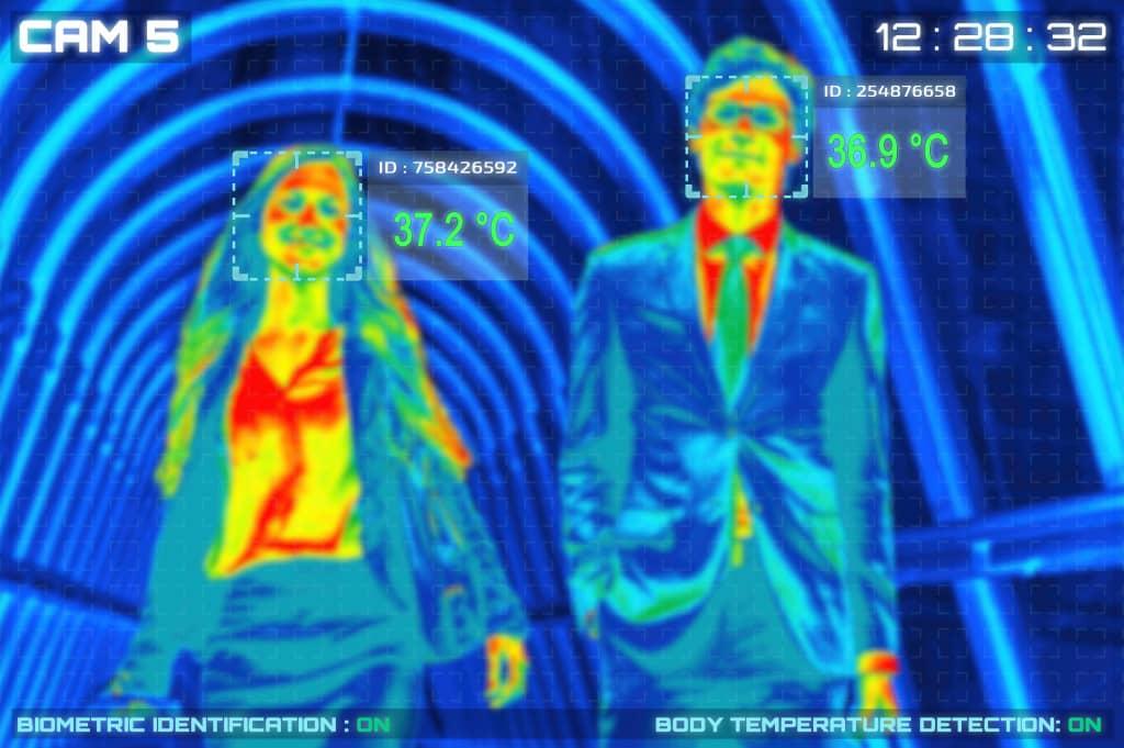 caméra thermique de détection de la fièvre covid-19