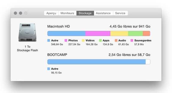 libérer de l'espace disque sur mac