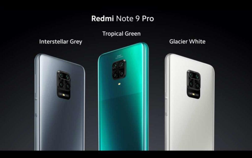 redmi note 9 pro couleurs