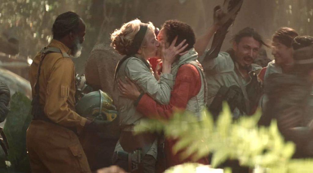 scène de baiser lesbien star wars 9